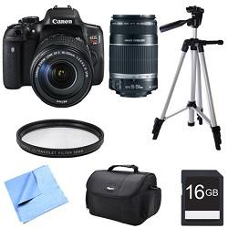 Canon EOS Rebel T6i Digital SLR Camera w/ 18-135mm and 55...