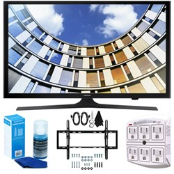Samsung Flat 50-Inch 1080p LED SmartTV (2017 Model) + Wal...