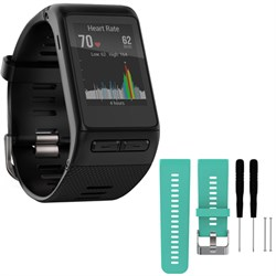 Garmin vivoactive GPS Smartwatch Regular Fit Black w/ Sil...