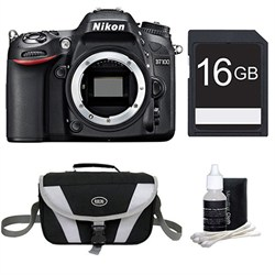 Nikon D7100 DX-Format Digital HD-SLR Body 16GB Bundle