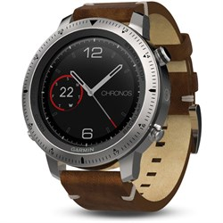 Garmin Fenix Chronos GPS Fitness Watch w/ Leather Band (0...