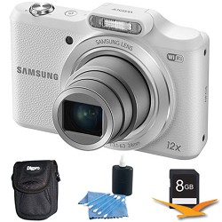 Samsung WB50F 16.2MP 12x Opt Zoom Smart Digital Camera White 8GB Kit