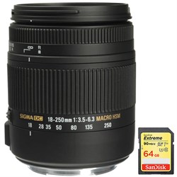Sigma 18-250mm F3.5-6.3 DC OS HSM Macro Lens for Canon EF...