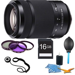 Sony 55-300mm DT f/4.5-5.6 SAM Telephoto Zoom A-Mount Len...