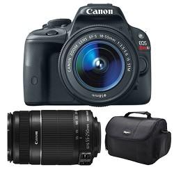 Canon EOS Rebel SL1 SLR Digital Camera EF-S 18-55mm and 55-250mm STM Bundle