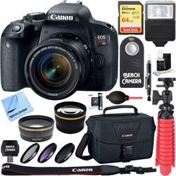 Canon EOS Rebel T7i Digital SLR Camera + EF-S 18-55mm IS ...