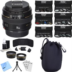 Canon EF 50mm f/1.4 USM Telephoto Lens for Canon SLR Came...
