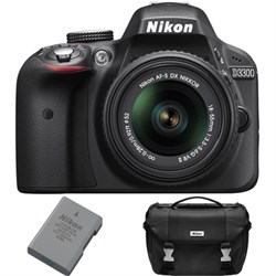 Nikon D3300 DSLR 24.2 MP HD 1080p Camera Bundle w/ 18-55m...