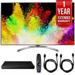 "LG 65"""" Super UHD 4K HDR Smart LED TV w/ Blu-ray Player + Extented Warranty Bundle"" E10LG65SJ8500"