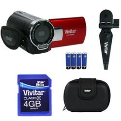 Vivitar Digital Video Camera Kit (DVR548-RED/KIT-AMX)
