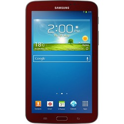 Samsung Galaxy Tab 3 Tablet (7-inch, Red) with Samsung Cover Refurbished 90 Day Warranty
