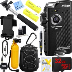 Nikon KeyMission 80 12.3MP HD WiFi Action Camera Dual Bat...