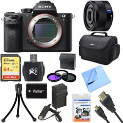 Sony a7R II Full-frame Mirrorless Interchangeable 42.4MP Camera Body 35mm Lens Bundle E8SNILCE7RM2B
