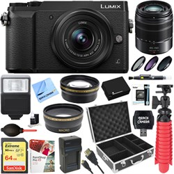 Panasonic LUMIX GX85 Mirrorless Black Camera + 12-32mm & ...