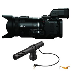 JVC GC-PX100BUS HD Everio Black Camcorder and Microphone Bundle