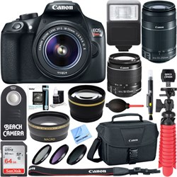 Canon EOS Rebel T6 DSLR Camera with EF-S 18-55mm & 55-250...