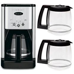 Cuisinart DCC-1200 Brew Central 12 Cup Programmable Coffeemaker + Two Bonus Carafes Bundle E2CUIDCC1200