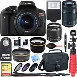Canon EOS Rebel T6i DSLR Camera EF-S 18-55mm & 55-250mm I...