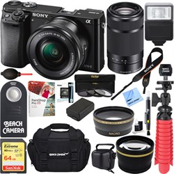 Sony Alpha a6000 24.3MP Mirrorless Camera 16-50 + 55-210m...