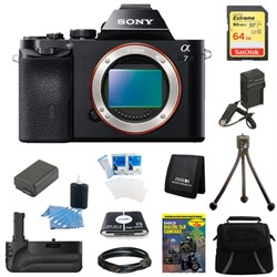 Sony Alpha 7 a7 Digital Camera 64 GB SDHC Card, Battery and Battery Grip Bundle