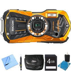 Ricoh WG-30W Digital Camera with 2.7-Inch LCD Flame Orang...