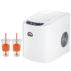 Igloo Compact Ice Maker White with Copco 24 Ounce Togo Cup Mug Bundle E3IGLICE102C