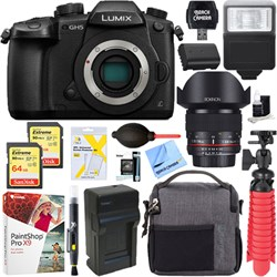 Panasonic LUMIX GH5 Mirrorless Digital Camera + 14mm f/2....