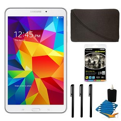 Samsung Galaxy Tab 4 White 16GB 8 Tablet and Case Bundle