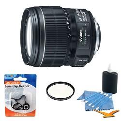Canon EF-S 15-85mm f/3.5-5.6 IS USM Standard Zoom Lens W/ Hoya Filter & Accy Kit