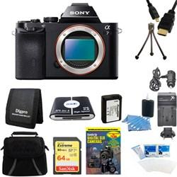 Sony Alpha 7 a7 Digital Camera 64GB SDXC Card and Battery...