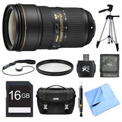 Nikon 24-70mm f/2.8E ED VR AF-S NIKKOR Zoom Lens 16GB Bundle E1NK2470VRED