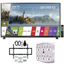 "LG 65"" Super UHD 4K HDR Smart LED TV (2017 Model) w/ Wall Mount Bundle"
