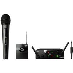 AKG WMS40 Mini Dual Vocal Handheld/Instrument Wireless Microphone System AKGWMS40