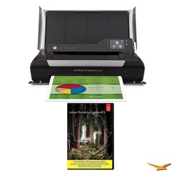 Hewlett Packard Officejet 150 Mobile All-in-One Printer with Photoshop Lightroom 5 MAC/PC