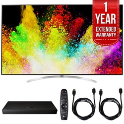 "LG 65"""" Super UHD 4K HDR Smart LED TV w/ Blu-ray Player + Extented Warranty Bundle"" E10LG65SJ9500"