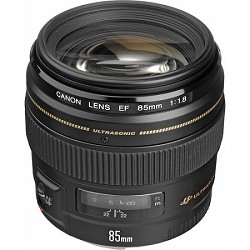 Canon EF 85mm f/1.8 USM Medium Telephoto Lens for Canon SLR Cameras - PRICE BEFORE $50.00 REBATE