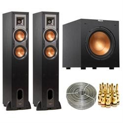 """Klipsch R-24F Floorstanding Speaker (Pair) w/ R-10SW 10"""" ..."""