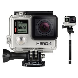 GoPro HERO4 Silver Edition Action Camera with Selphie Stick for GoPro