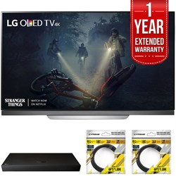 "LG 65"""" E7 OLED 4K HDR Smart TV 2017 Model with Warranty + Blu Ray Bundle"" E10LGOLED65E7P"