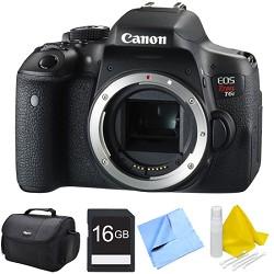 Canon EOS Rebel T6i Digital SLR Camera Body 16GB Bundle