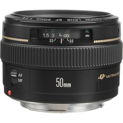 Canon EF 50mm f/1.4 USM Standard Medium Telephoto Lens