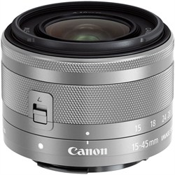Canon EF-M 15-45mm f\/3.5-6.3 IS STM Lens for EOS M Mirrorless Digital Cameras (Silver)