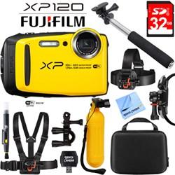 Fuji XP120 Yellow Compact Rugged Waterproof Digital Camer...