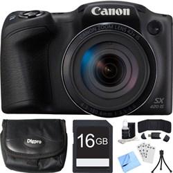 Canon PowerShot SX420 IS 20MP Black Digital Camera + 42x ...