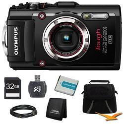 Olympus TG-3 16MP 1080p HD Shockproof Waterproof Digital Camera Black Ultimate Kit
