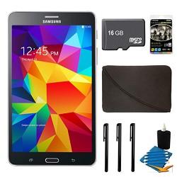 Samsung Galaxy Tab 4 Black 8GB 7 Tablet, 16GB Card, and Case Bundle