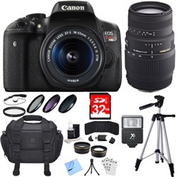 Canon EOS Rebel T6i Digital SLR Camera with 18-55mm and 7...