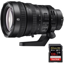 Sony 28-135mm FE PZ F4 G OSS E-mount Power Zoom Lens with...