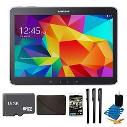 Samsung Galaxy Tab 4 Black 16GB 10.1 Tablet, 16GB Card, and Case Bundle