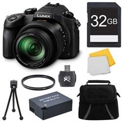 Panasonic LUMIX FZ1000 4K QFHD/HD 16X Long Zoom Digital Camera 32GB Bundle (Black) E1PNDMCFZ1000